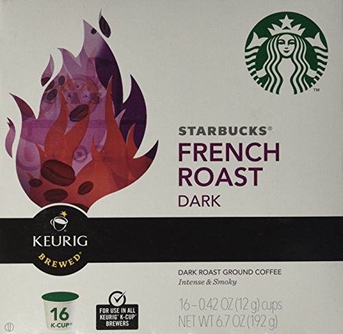 Starbucks dark French Roast, K-Cup Portion Pack for Keurig K-Cup Brewers, 16-Count (Starbucks Dark Roast compare prices)