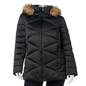 ZeroXposur Hooded Satin Puffer Jacket - Women's Plus Size