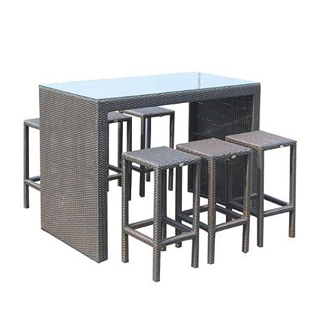 Tavolo e sedie per arredo giardino in polyrattan mod. Set Bar SET BAR