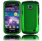 Samsung illusion I110 Samsung Galaxy Proclaim S720C Rubberized Cover - Dark Green