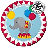 Creative Converting Circus Time Round Dinner Plates, 8 Count