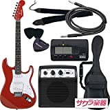 SELDER セルダー エレキギター ストラトキャスタータイプ サクラ楽器オリジナル ST-16/MRD 初心者入門ベーシックセット