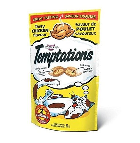 Whiskas TEMPTATIONS Tasty Chicken flavour 85 g. -- 1 PACK (Friskies Pate Chicken And Tuna compare prices)