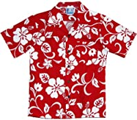 RJC Boys Size 2 to 18 Classic Hibiscus Shirt