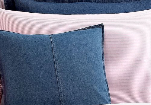 Ralph Lauren Universty Pink Oxford Stripe Std Sham Standard-lauren Ralpn University Bedding