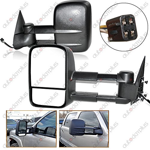 Spec-D Tuning RMX-C1088-P-FS Chevy Ck 1500 Ck 2500 3500 Black Power Towing Side Mirrors Tahoe (98 Chevy 1500 Tow Mirrors compare prices)