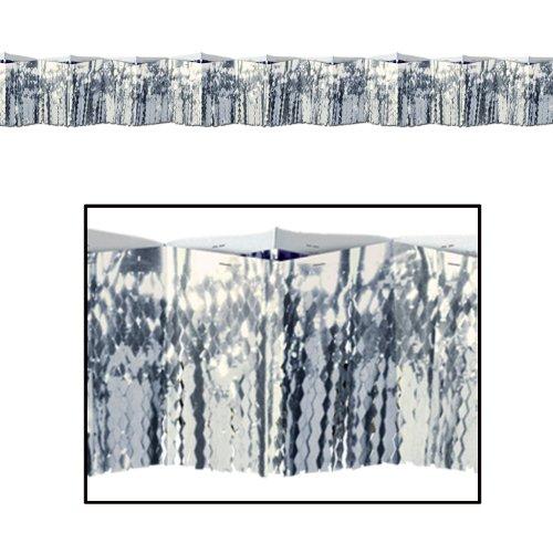 Beistle 50308-S 2-Ply Flame Resistant Diamond Metallic Fringe Drape, 12 by 12-Feet