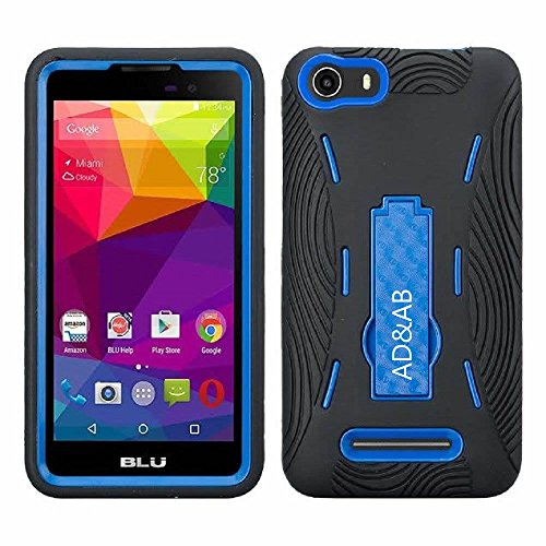 BLU Advance 5.0 Case, Premium Rugged Heavy Duty Drop Proof Case With Kickstand For BLU Advance 5.0 -Black Navy (Nv Phone Case compare prices)