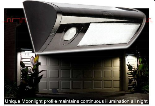 eleding pure digital solar powered motion activated 60 led. Black Bedroom Furniture Sets. Home Design Ideas