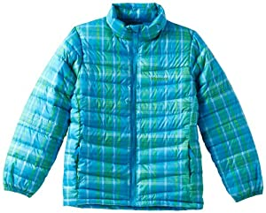 Marmot Girl's Jena Jacket, Blue Sea Plaid, X-Small