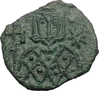 LEO V the ARMENIAN 814AD Syracuse Sicily Ancient Byzantine Follis Coin i48818