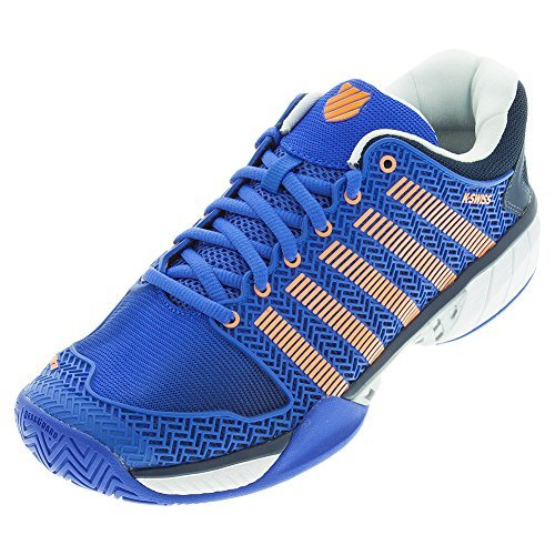 K-Swiss HyperCourt Express Tennis Sneaker Shoe - Electric Blue / Dress Blues / Safety Orange - Mens - 10