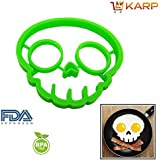 KARP™ Skull Shape Silicone Fried Egg Mold Pancake Rings, Non Stick Bakeware Accessories Kitchen Tools,BPA Free...