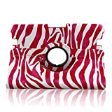 TOPCHANCES 360 Degree Rotating Stand Fashionable Smart Case with Magenetic Functions for 2012 Kindle Fire HD 8.9 Inch-Pink Zebra Print