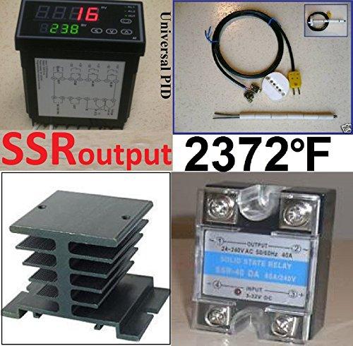 Professional Ramp Soak Temperature Controller Kiln SSR Kit Ceramic Thermocouple (Bryant Propane Furnace compare prices)