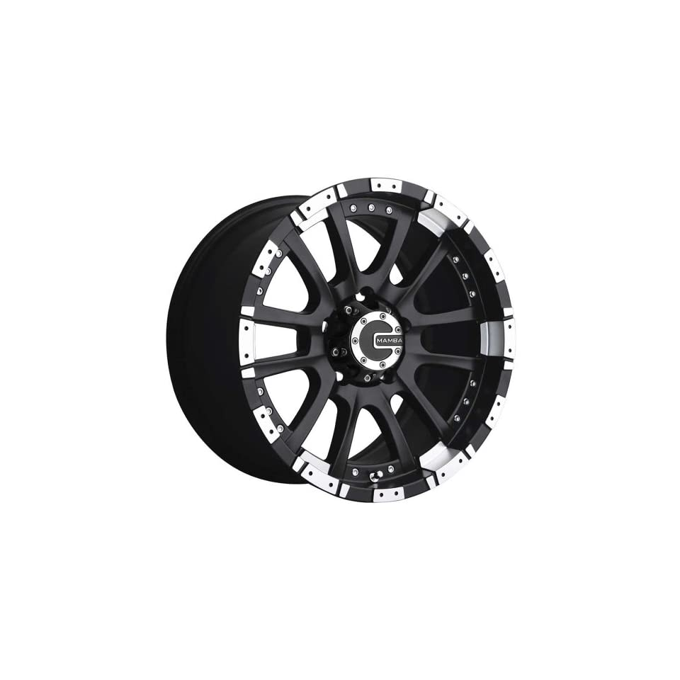 Mamba M12 17 Black Wheel / Rim 5x5.5 with a 0mm Offset and a 106.10 Hub Bore. Partnumber M12798500B