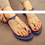 MYL Summer Lady T Strap Anchor Flat S...