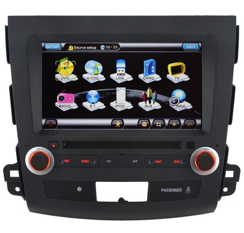 Koolertron For 2007-2011 MITSUBISHI OUTLANDER Car DVD Player With GPS Sat Nav Navigation and 8