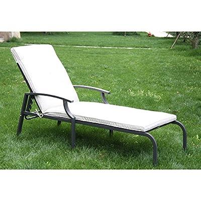 Outsunny® Sonnenliege Gartenliege Relaxliege Bäderliege faltbar Creme von Outsunny bei Gartenmöbel von Du und Dein Garten