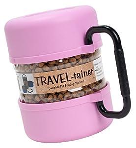 Gamma2 Pet Travel Tainer Bowl, Pink
