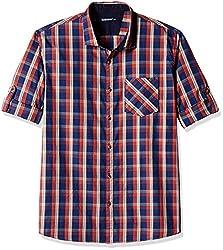 Ruggers Men's Casual Shirt (8907242820248_267797098_X-Large_Orange)