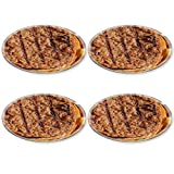 Liili Round Coasters (4 Piece) Fast food Hamburger and chips IMAGE ID 11732541