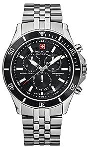 Swiss Military 06-5183.04.007 - Reloj analógico de cuarzo para hombre con correa de acero inoxidable, color plateado