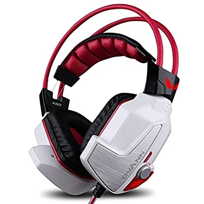 GranVela® X60 PRO Digital Virtual 7.1 Surround Sound Stereo Over-Ear Gaming Headset with Noise Reduction Microphone, LED Lighting, Volume Control and Smart Vibration