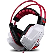 GranVela X60 PRO Digital Virtual 7.1 Surround Sound Stereo Over-Ear Gaming Headset With Noise Reduction Microphone... - B01DVYPIC6
