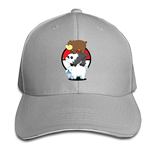 Bang Unisex Moda Carina abbiamo Bare Bears Logo regolabile cappello da baseball Ash Taglia unica