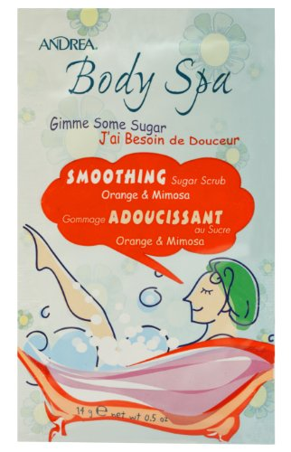 Andrea Body Spa Smoothing Sugar Scrub, 0.5Ounce (Pack of 72)
