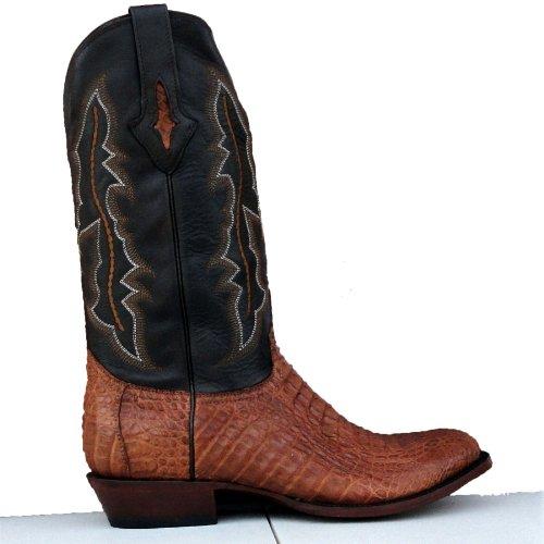 5c201a13614 Lucchese Mens Resistol Ranch Tan Body Cut Caiman Gator Cowboy Boots ...