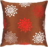 Rizzy Home T-3621 18-Inch by 18-Inch Decorative Pillows, Copper/Red , Set of 2