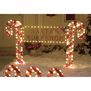 Outdoor christmas yard decor candy cane for Amazon christmas lawn decorations