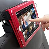 Snugg iPad 2 / 3 / 4 Car Headrest Mount - Leather Car Headrest Mount With Lifetime Guarantee (Black) For Use With Snugg iPad 2 / 3 / 4 Leather Case