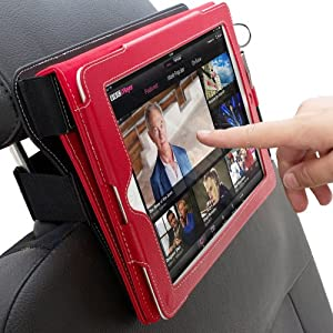 Snugg iPad Car Headrest Mount Holder - Combines with Snugg iPad 3 / iPad 4 / iPad 2 Leather Case