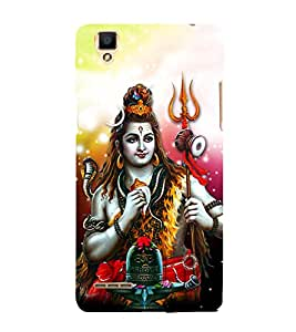 Shiv Shankar 3D Hard Polycarbonate Designer Back Case Cover for Oppo F1