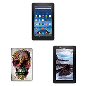 """Fire Essentials Bundle including Fire 7"""" Tablet with Special Offers, caseable Gardening Cover and Screen Protector"""