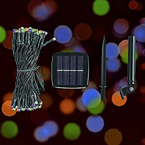 Amazon.com - DeVida Halloween Decorations Solar String Lights, No Outlet Needed, Extra Long 100 ...