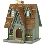 Gifts & Decor Thatch Roof Wood Cottage Chimney Bird House (Discontinued by Manufacturer)