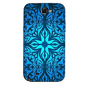 BLUE WHITE PATTERN BACK COVER FOR SAMSUNG GALAXY NOTE 2