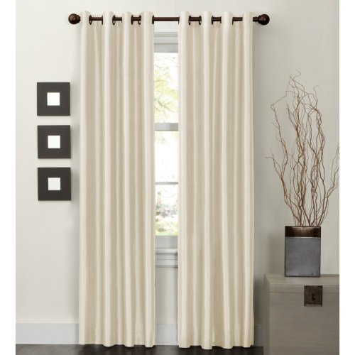 Maytex Jardin Faux Silk Thermal Lined Energy Window Panel, 54 By 84-Inch front-521816