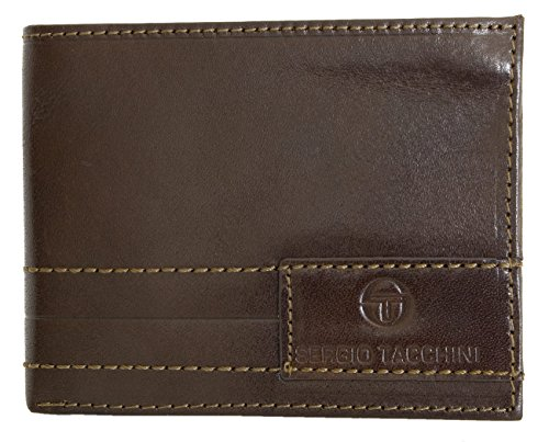Men's Brown Strong Genuine Leather Wallet Sergio Tacchini (Sergio Tacchini Shoes compare prices)