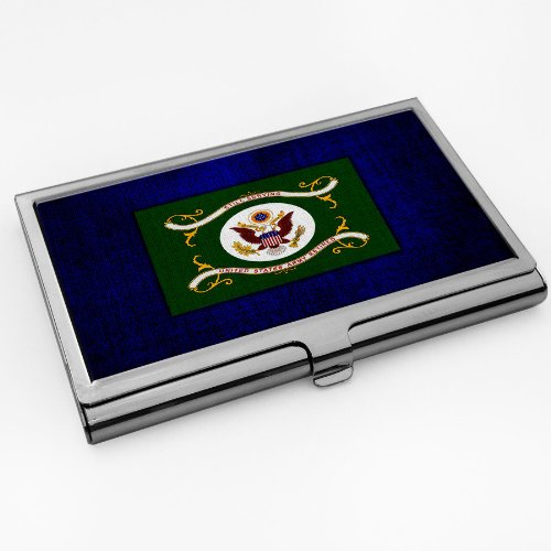 Business Card Holder with U.S. Army Retired flag
