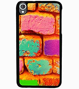 ColourCraft Colourful Bricks Design Back Case Cover for HTC DESIRE 820
