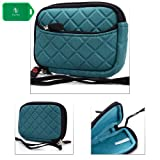 Martian Watches - G2G Smart Watch Premium grade neoprene compact case sleeve w/ accessory pocket ( teal oasis )