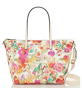 Kate Spade Grant Street Grainy Vinyl Adaira Baby Bag - Giverny Floral from kate spade