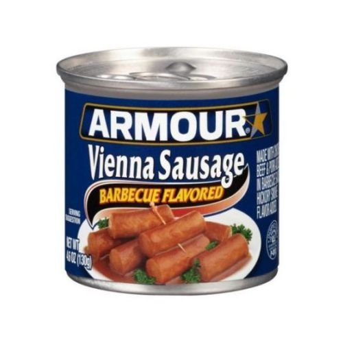 Armour Barbecue Flavored Vienna Sausage, 4.6 Ounce -- 24 per case. (Canned Bbq Beef compare prices)