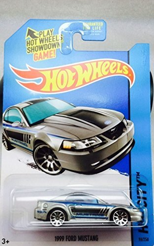 2014 Hot Wheels Hw City - 1999 Ford Mustang (Silver)