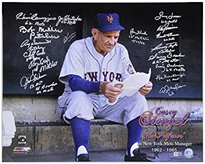 "1962 New York Mets Autographed 16"" x 20"" Photograph 1st Mets Manager Tribute with 19 Signatures - Fanatics Authentic Certified"